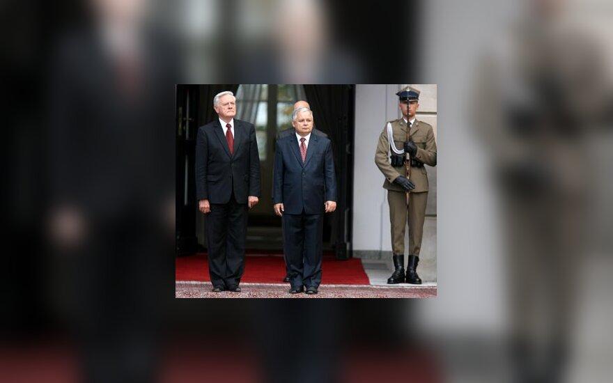 V.Adamkus ir L.Kaczynski
