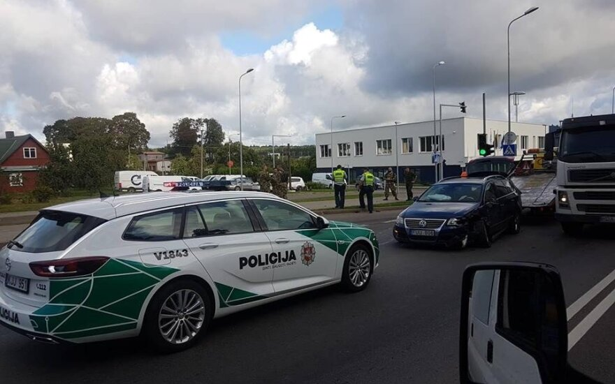 NATO soldier causes car accident in Vilnius' outskirts