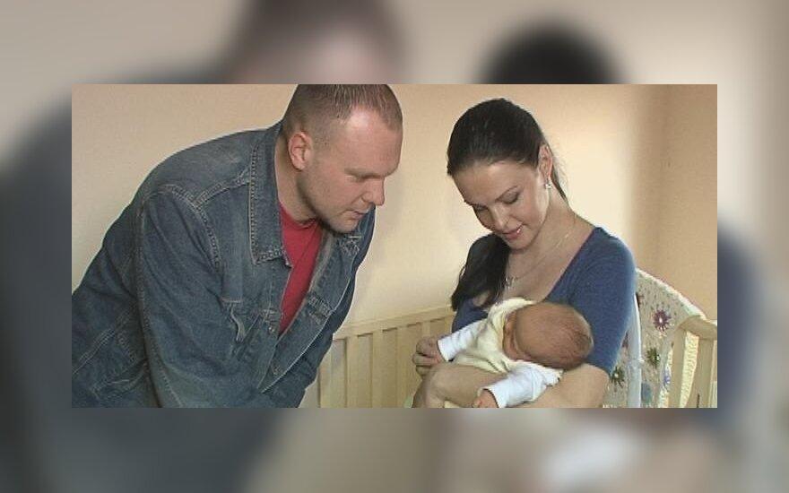 Kristupas Krivickas, Jurgita Krivickienė su dukrele