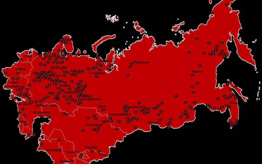 Gulago stovyklų žemėlapis
