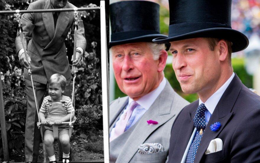 Princas Williamas su tėvu