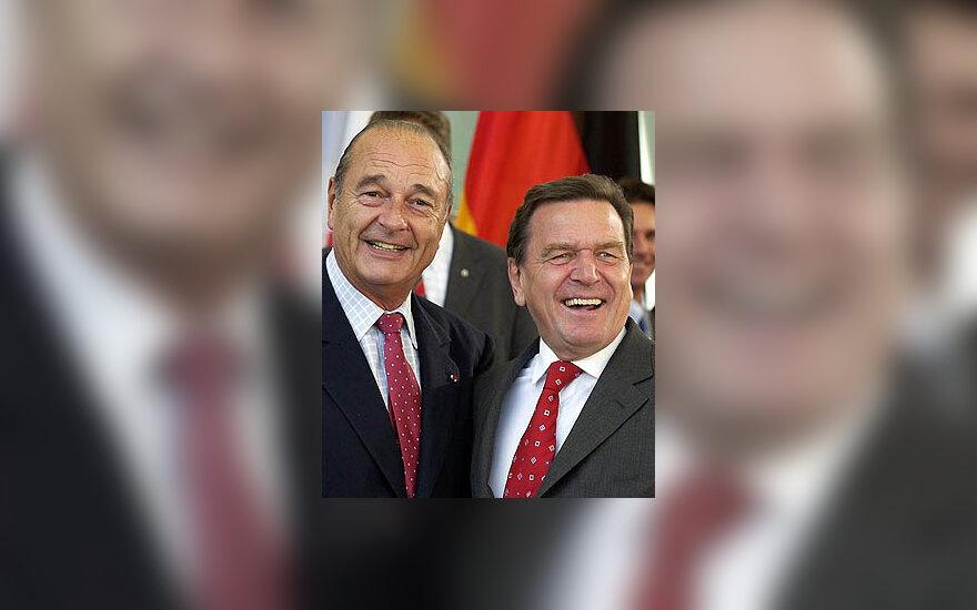 Jacques Chirac ir Gerhard Schroeder