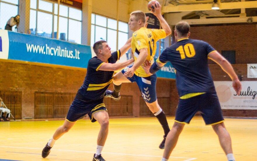 """Atakuoja """"HC Vilniaus"""" komanda / Foto: Auksė Tamulytė"""