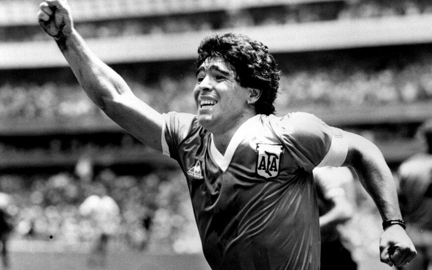 Po futbolo legendos Maradonos mirties Argentina skelbia trijų dienų gedulą