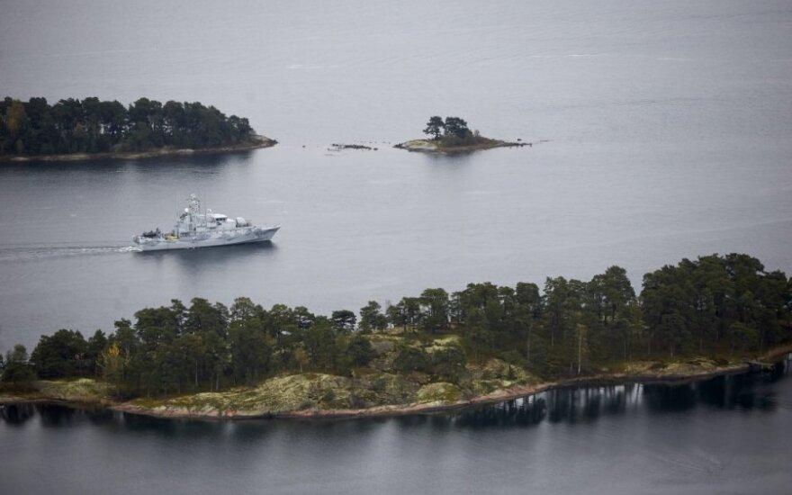Švedija: civiliniams laivams nurodyta laikytis atstumo