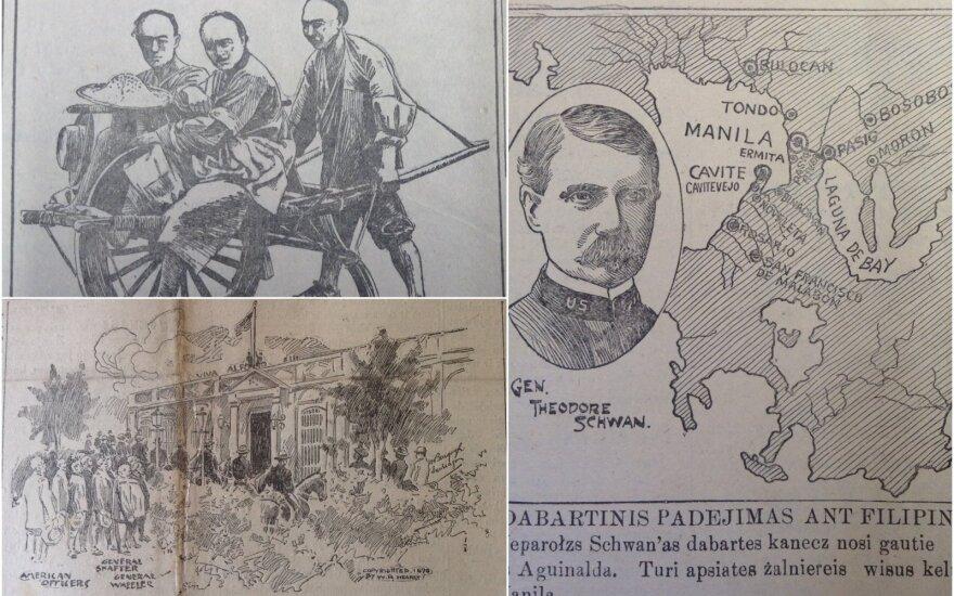 """Nuotraukos skelbtos laikraštyje """"Saulė"""" 1898-1901 m."""