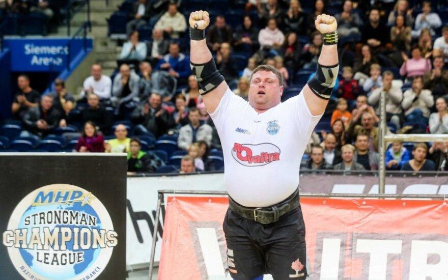 Pasaulio galiūnų čempionų lygos etape Vilniuje - Ž. Savicko triumfas