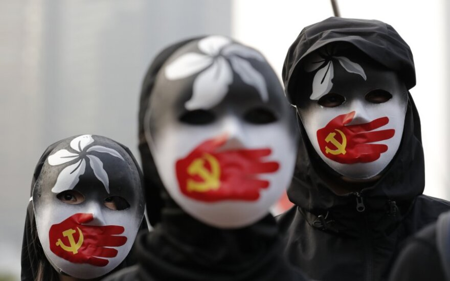 Uigiūrų palaikymo akcija Honkonge