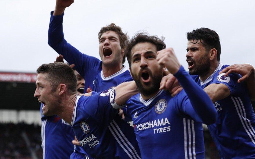 Premier lyga, Stoke City – Chelsea rungtynių akimirkos