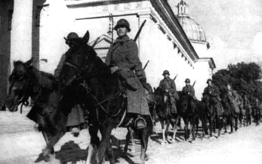 The Red Army in Vilnius, 1939
