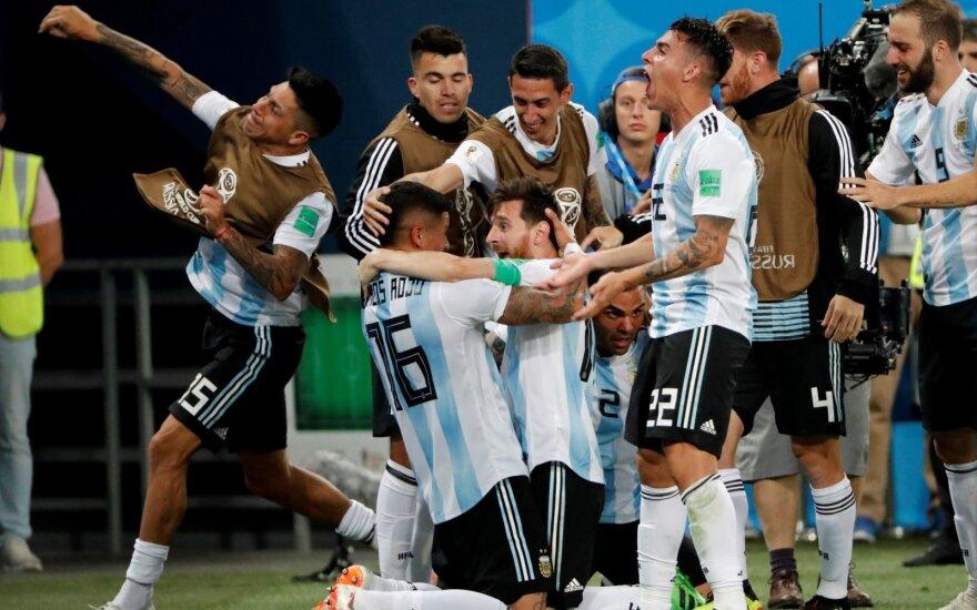 Argentina su Messiu išplėšė kelialapį į aštuntfinalį – jame kovos su Prancūzija