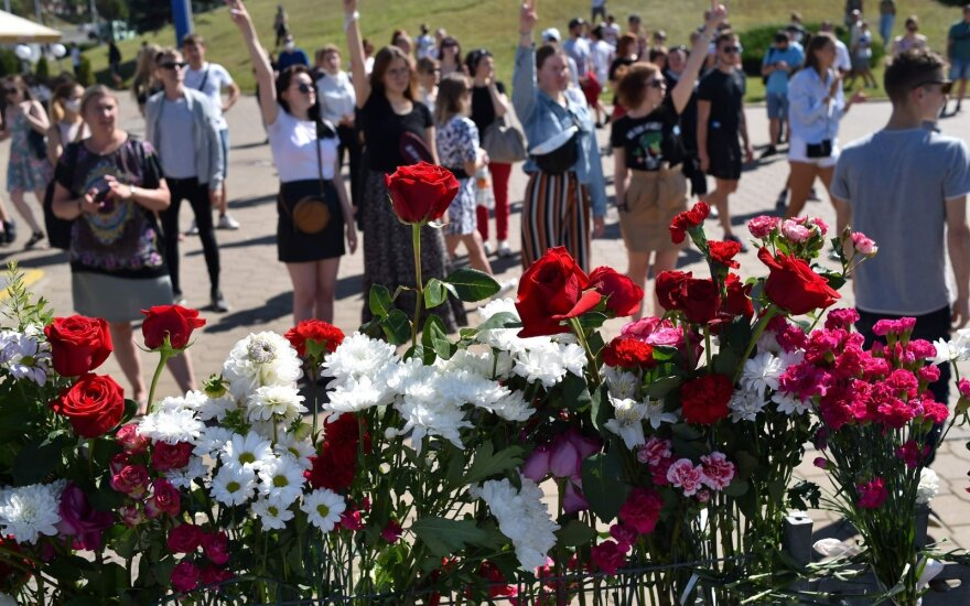 Vieta, kurioje per protestus Minske žuvo vyras