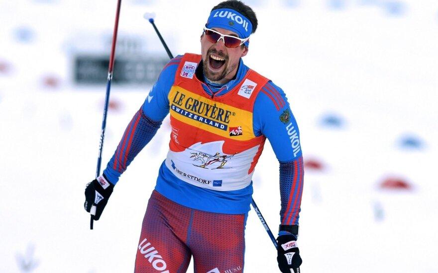 """Rusas S. Ustiugovas tęsia dominavimą """"Tour de Ski"""" slidinėjimo varžybose"""