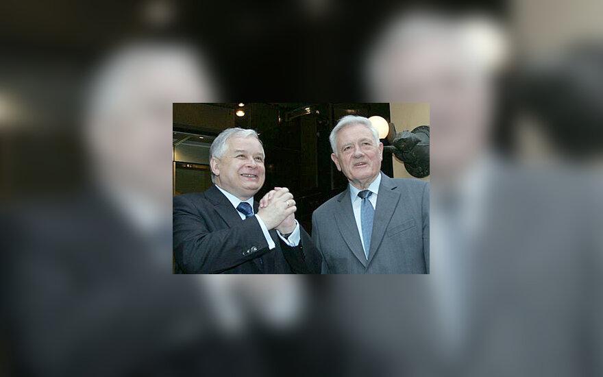Lechas Kaczynskis ir Valdas Adamkus