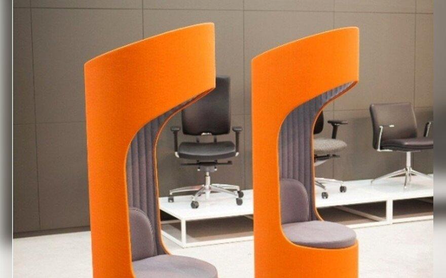"""Tarptautinė baldų paroda diktuoja """"gyvybingo"""" biuro tendencijas"""