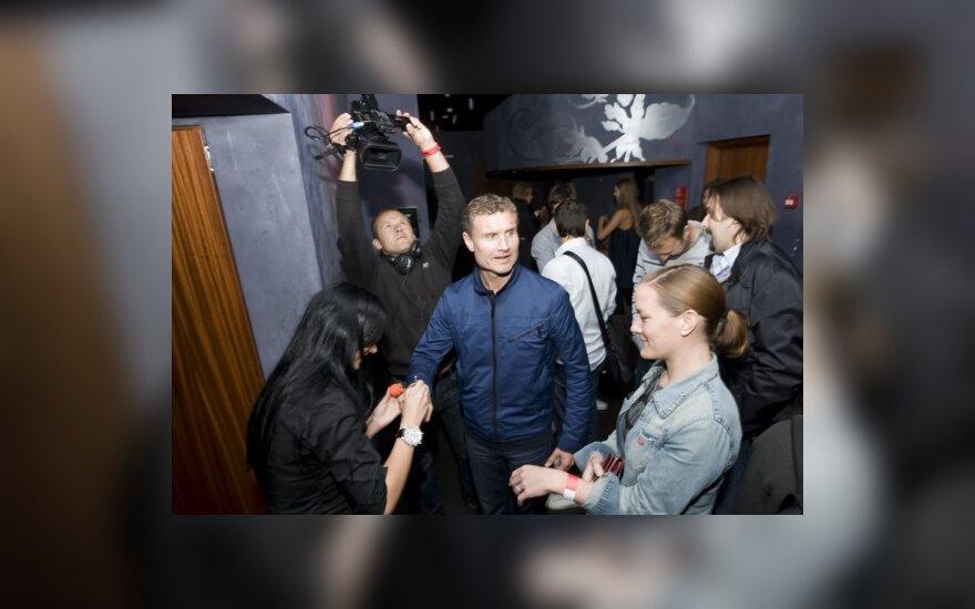D. Coulthardas vakarėlyje  (Mariaus Žickaus nuotr.)