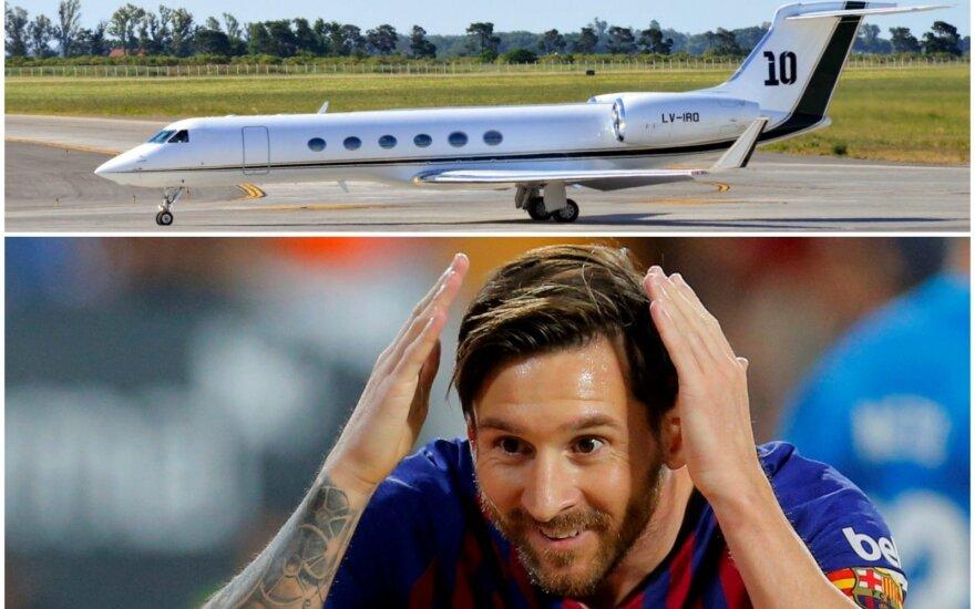 Lionelis Messi ir jo naujasis lėktuvas