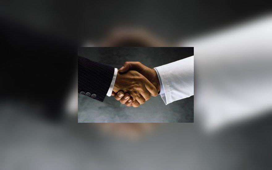 Handshake, derybos, verslas, OK