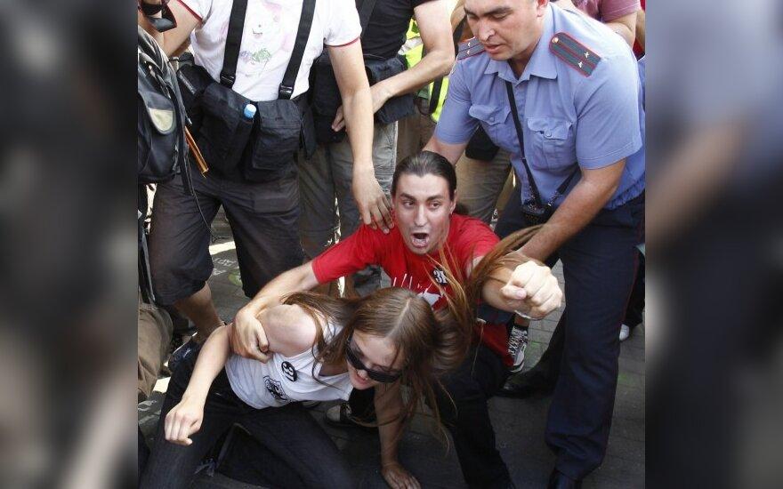"""Maskvoje ir Sankt Peterburge per opozicijos """"31-osios akciją"""" sulaikyta keliasdešimt žmonių"""