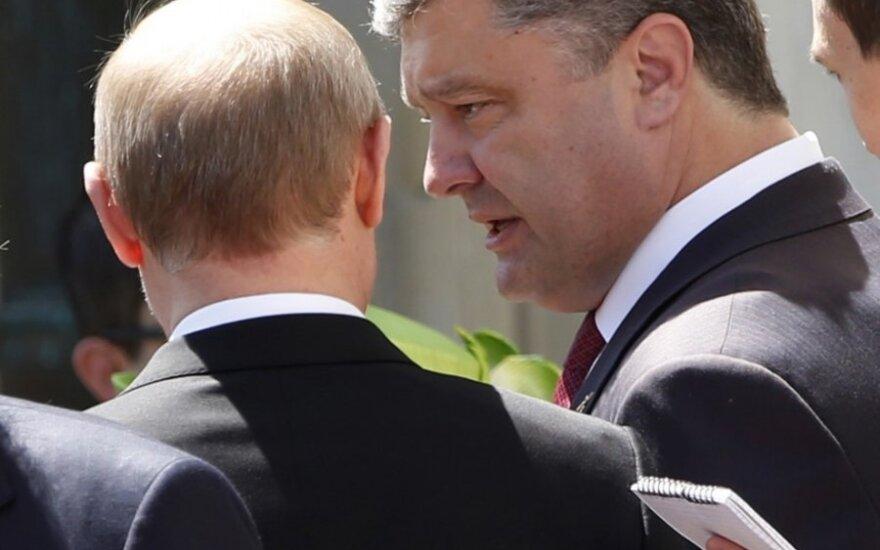 P. Porošenka ir V. Putinas konstatavo: ugnis nutraukiama