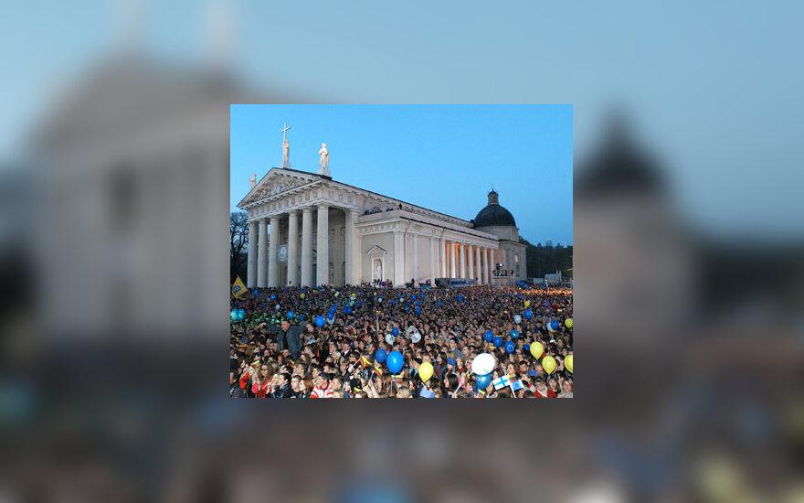 Įstojimo į ES koncertas Katedros aikštėje