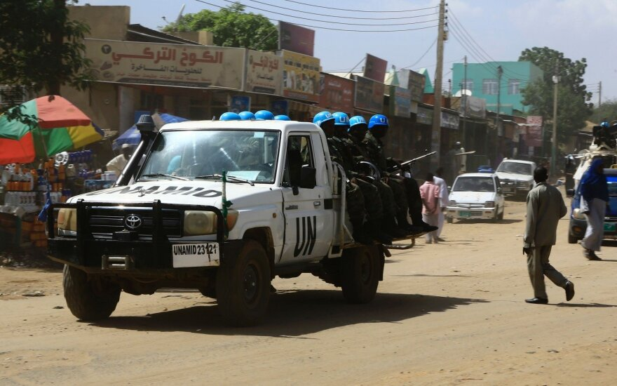 UN peacekeepers in action