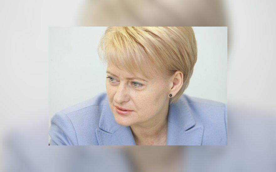 D. Grybauskaitė: iki euro dar toli
