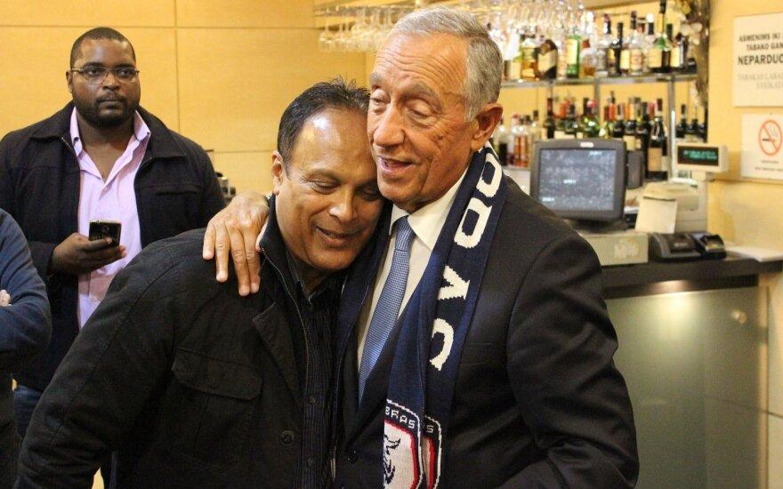 """Portugalijos prezidentas Marcelo Rebelo de Sousa susitiko su """"Stumbro"""" klubu"""