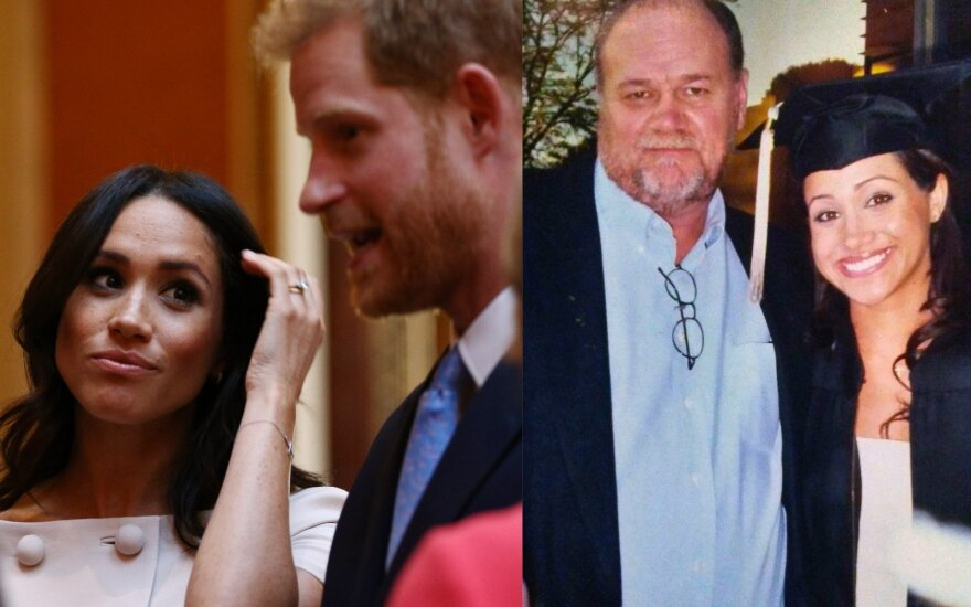 Meghan Markle, Princas Harry, Thomas Markle
