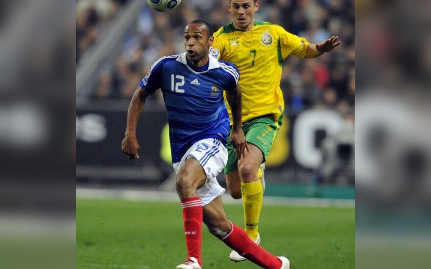 Thierry Henry ir Mantas Savėnas