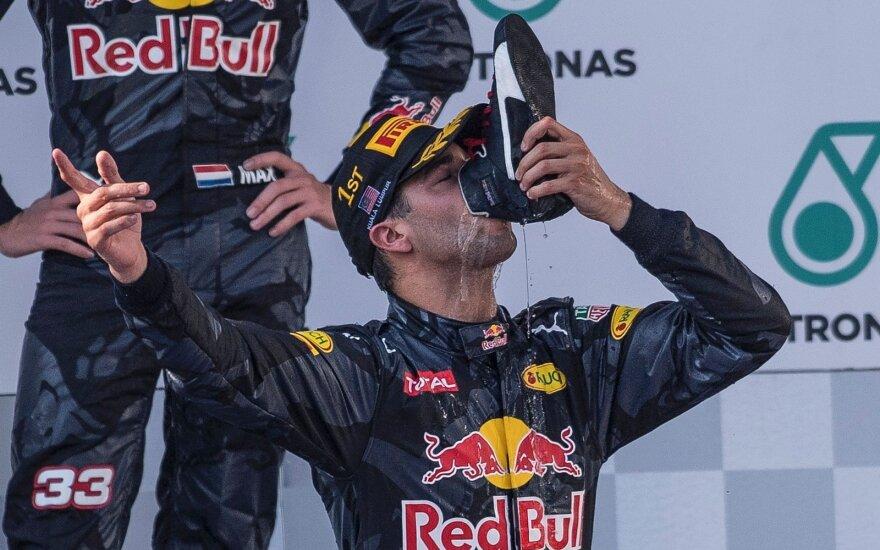 Keistas D. Ricciardo ritualas patiko toli gražu ne visiems