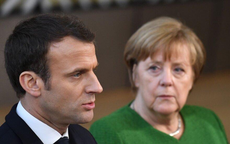 Merkel ir Macronas kreipėsi į Putiną