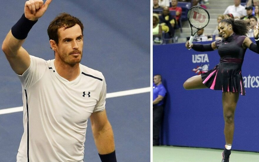 """US Open"" turnyre – lengvos A. Murray ir S. Williams pergalės"