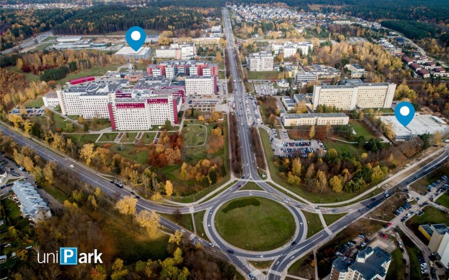 Unipark, parkingas, Santariškės