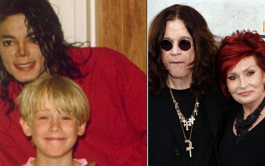 Michaelas Jacksonas su Macaulay Culkinu ir Sharon Osbourn su Ozzy Osbourne