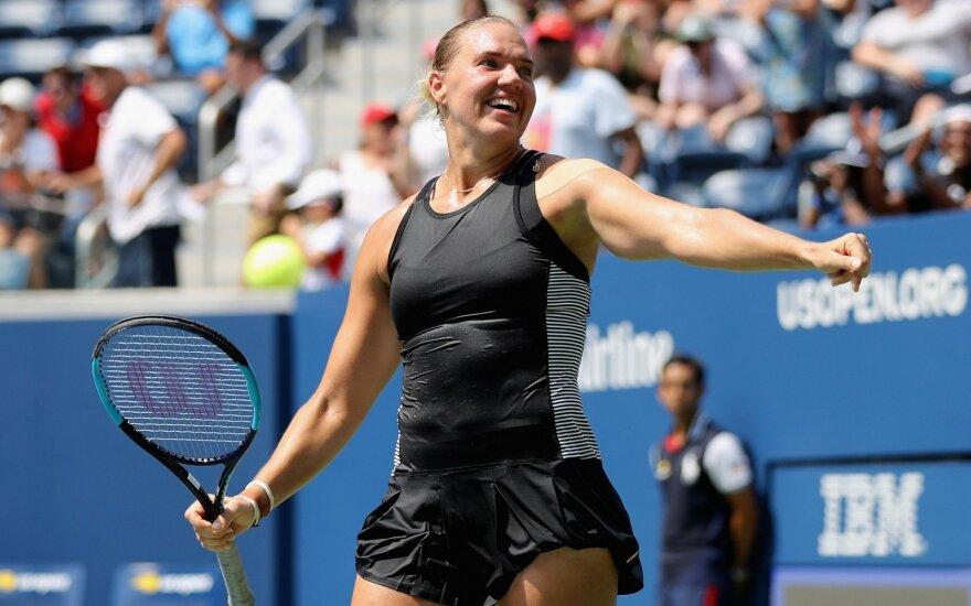 """Sensacija """"US Open"""" turnyre: Estijos tenisininkė sutriuškino pirmą pasaulio raketę"""