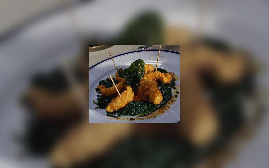 Krevetės su sezamu