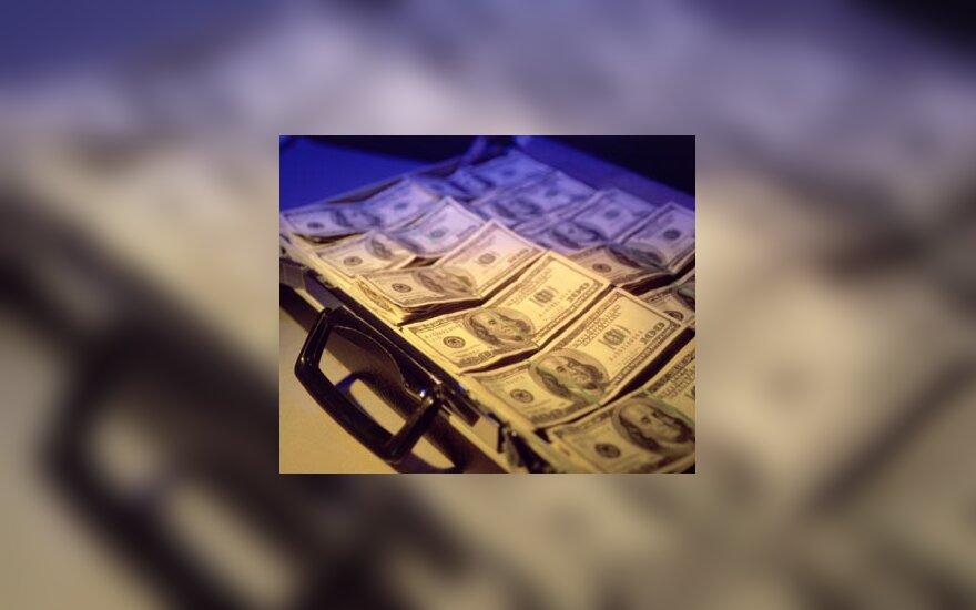 Pinigai lagamine, doleriai