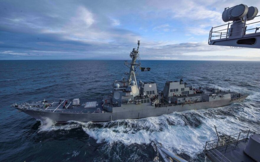 "JAV eskadrinis minininkas ""USS Kidd"""