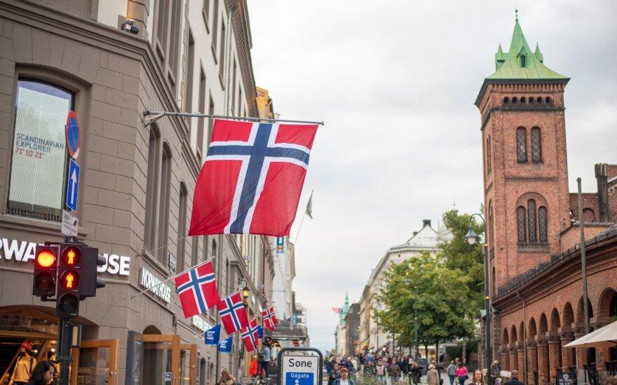 Norvegijos krona rekordiškai nukrito euro atžvilgiu
