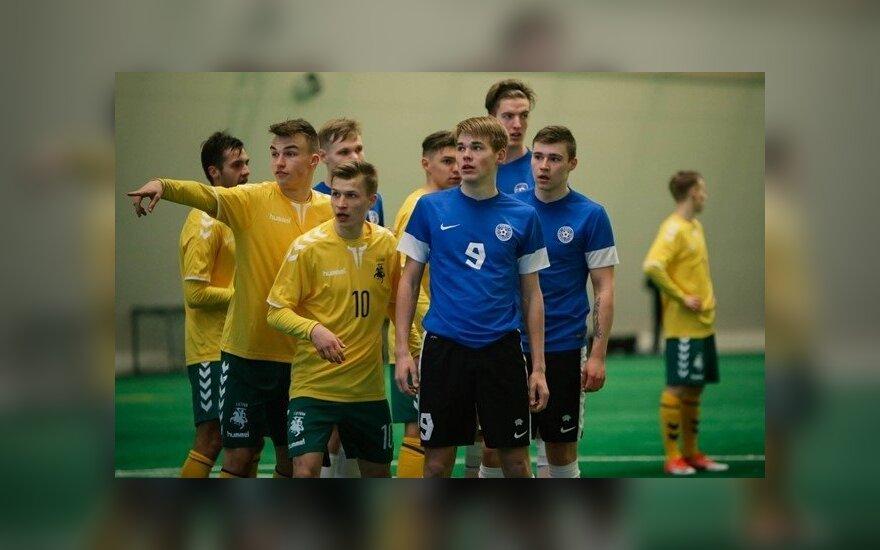 Lietuvos ir Estijos jaunių futbolininkų akistata