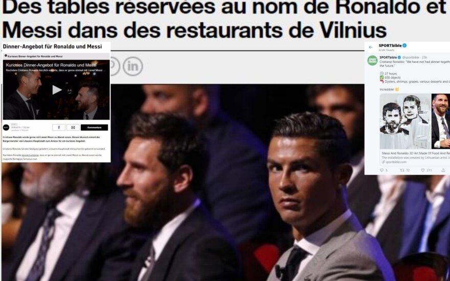 Žinia apie vakarienę Ronaldo ir Messi apskriejo žiniasklaidą