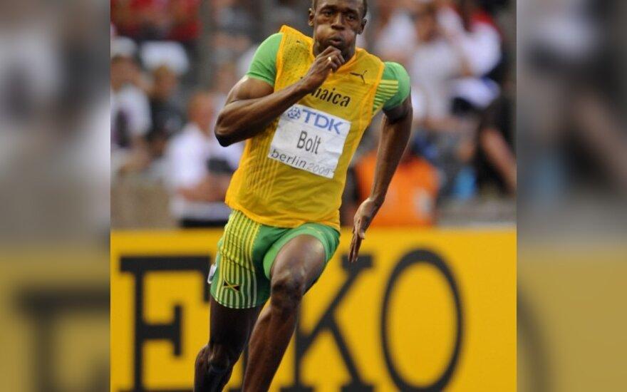 Skuodžia Usainas Boltas