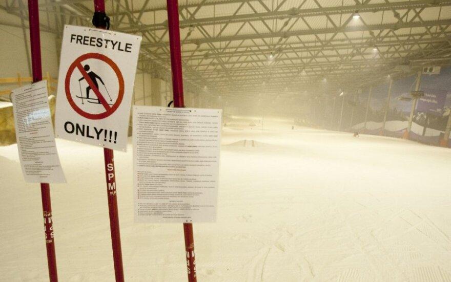 """""""Snow arenoje"""" nelaimę patyrusi lankytoja: gyvybę išgelbėjo šalmas"""