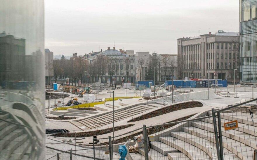 Kauno Vienybės aikštę pabaigti planuojama iki pavasario