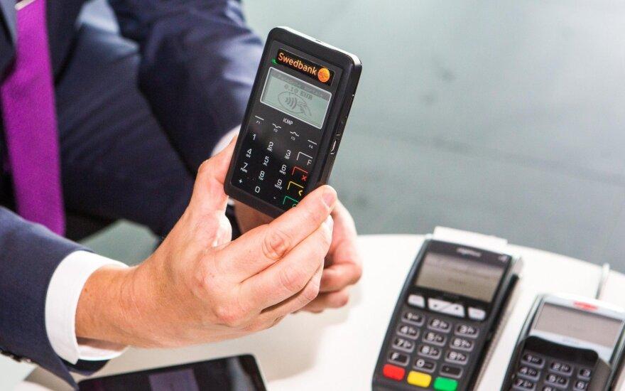 Atsiskaitymai bekontaktėmis kortelėmis Lietuvoje išaugo 20 kartų, iki 14 mln. eurų