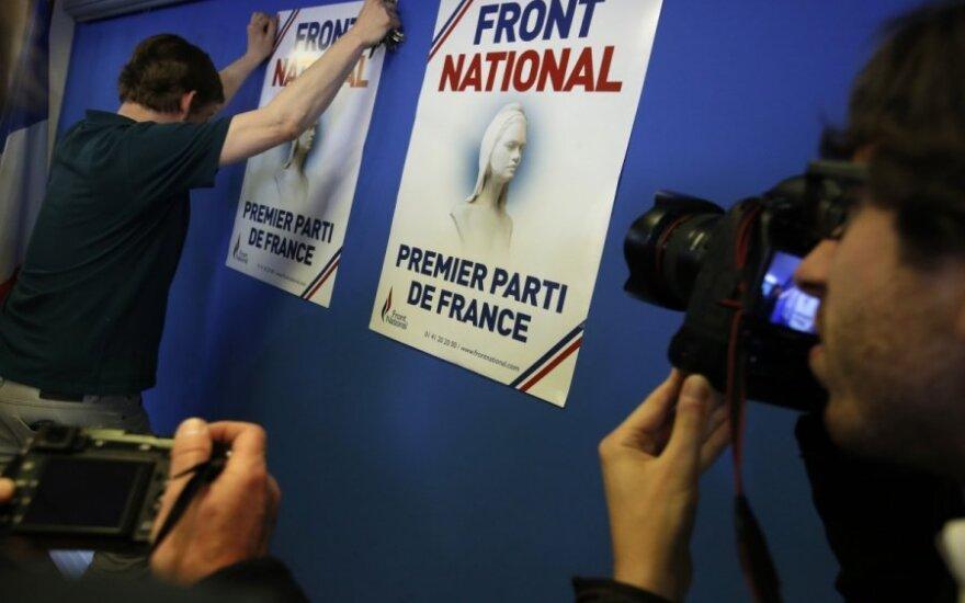 Prancūzijos EP rinkimuose triumfuoja euroskeptiška partija
