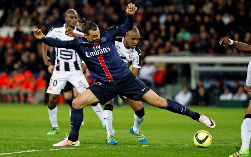 Prancūzijoje – Z. Ibrahimovičiaus dublis ir PSG pergalė