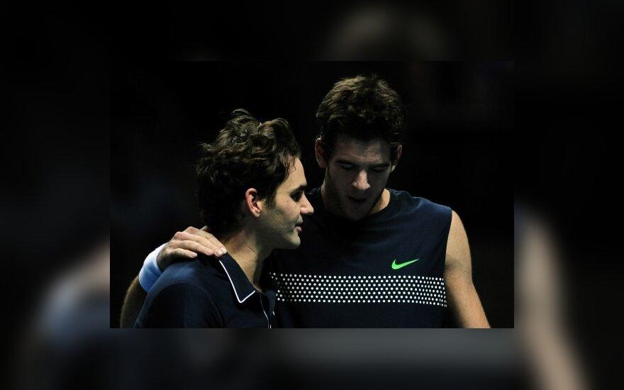 Roger Federeris ir Juanas Martinas Del Potro