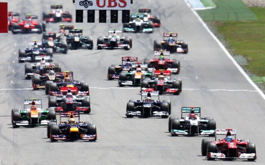 """""""Formulės-1"""" etapą Hockenheime laimėjo ispanas F.Alonso"""